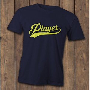 Player T-Shirt, Baseball style logo, hip hop tee, slogan t shirt