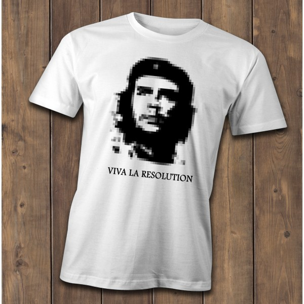 Viva la resolution T-Shirt, classic Che Guevara spoof shirt, graphic designers tee